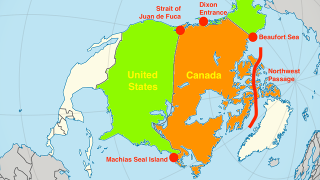 U.S. vs. Canada: five modern-day territorial disputes